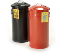 Add A Splash Of Color To Your Kitchen With Retro Trash Can